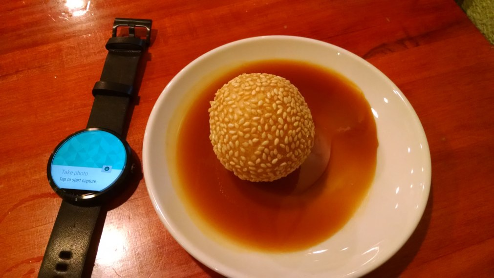 Moto 360...and sesame ball