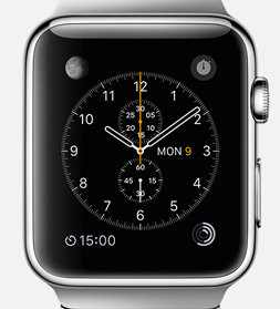 Apple watch, promo shot from Apple.com, used under fair use, for commentary. Please don't sue me. (c) Apple etc.