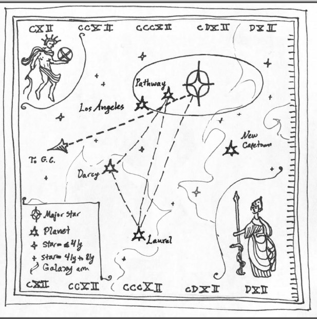 Starmap, of Z-minus space