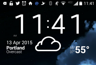 Weather, time and calendar widget (Android 4.4)