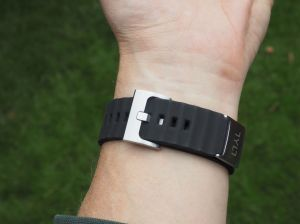 The Tylt band; better looking than stock, more comfortable.