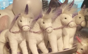Unicorns, glaring errily.